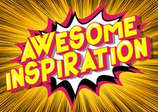 Ontzagwekkende Inspiratie - de Grappige woorden van de boekstijl royalty-vrije illustratie