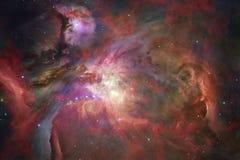 Ontzagwekkende kleurrijke nevel ergens in eindeloos heelal vector illustratie