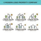 Ontzagwekkende moderne bezits logotype vrije vector royalty-vrije illustratie