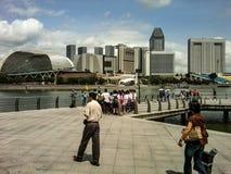 Ontzagwekkende moderne de levensstijl van de ontwerpkunst fotografie als achtergrond in toren Singapore Stock Afbeeldingen