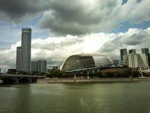 Ontzagwekkende moderne de levensstijl van de ontwerpkunst fotografie als achtergrond in toren Singapore Royalty-vrije Stock Foto