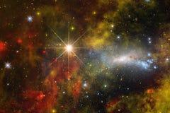 Ontzagwekkende mooie nevel ergens in kosmische ruimte stock illustratie
