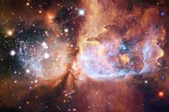 Ontzagwekkende mooie nevel ergens in kosmische ruimte royalty-vrije illustratie