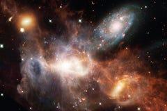Ontzagwekkende nevel Miljarden melkwegen in het heelal royalty-vrije illustratie