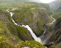 Ontzagwekkende Voringfossen stock afbeelding