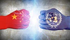 ONU contro la Cina illustrazione vettoriale