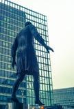 ONU headquarter. Statue in ONU area, Bruxelles Royalty Free Stock Image