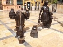 ONU Oviedo del quadrato di Trascorrales Immagini Stock Libere da Diritti