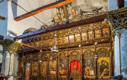 Onufri Iconostasis i Berat Arkivbilder
