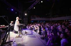 ONUKA-Band, die im Lemberg-Verein spielt Lizenzfreie Stockbilder
