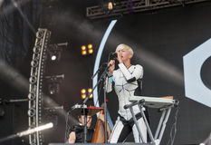 ONUKA electro band performs at Atlas Weekend festival. Kiev, Ukraine. Stock Photo