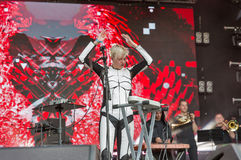 ONUKA electro band performs at Atlas Weekend festival. Kiev, Ukraine. Royalty Free Stock Image