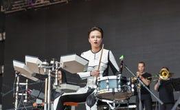 ONUKA electro band performs at Atlas Weekend festival. Kiev, Ukraine. Stock Photo