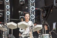 ONUKA electro band performs at Atlas Weekend festival. Kiev, Ukraine. Royalty Free Stock Photo