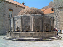 Onuphrius fountain in Dubrovnik. Scenic view of the onuphrius fountain in the city of Dubrovnik, Croatia Stock Photo