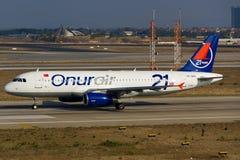 Onur Air Aerobus A320 Zdjęcia Royalty Free