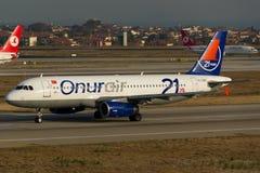 Onur Air Airbus Fotografering för Bildbyråer