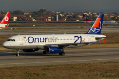 Onur Air Airbus Stock Image