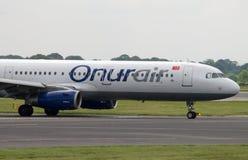 Onurair flygbuss A320 Arkivfoto