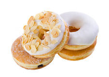 Onut, filhós doce com açúcar Imagens de Stock Royalty Free
