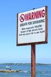 Onveilig voor het Zwemmen stock afbeelding