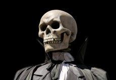 Onverbiddelijke maaimachine. het skelet van de dood Royalty-vrije Stock Foto's