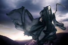 Onverbiddelijke reaper/engel van dood royalty-vrije stock afbeeldingen