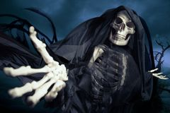 Onverbiddelijke reaper/engel van dood royalty-vrije stock foto's
