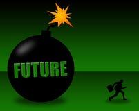 Onverbiddelijke toekomst Stock Afbeelding