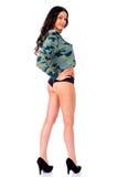 Onverwacht model Het volledige Portret van de Lengte van Jonge Vrouw Stock Fotografie