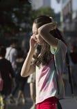 Onverwacht portret van een roepend meisje Royalty-vrije Stock Fotografie