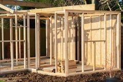 Onvolledig gebouwd van de zomerhuis stock foto's