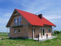 Onvolledig huis stock afbeeldingen