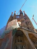 Onvolledig La Familia Sagrada, Barcelona, Catalonië, Spanje royalty-vrije stock afbeeldingen