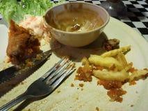 Onvolledig voedsel Stock Foto's