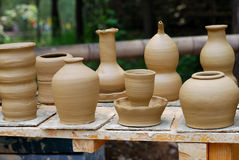 Onvolledige aardewerkproducten. Royalty-vrije Stock Fotografie