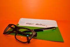 Onvolledige brief voor de moeder, stock fotografie