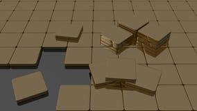 Onvolledige bruine vlotte vloer Royalty-vrije Stock Afbeeldingen