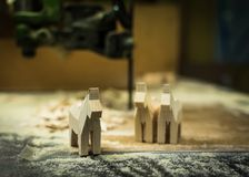 Onvolledige Dala-Paarden in de workshop Royalty-vrije Stock Afbeelding