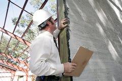 Onvolledige de Inspectie van Bulding Stock Foto
