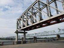Onvolledige spoorwegbrug royalty-vrije stock afbeeldingen