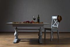 Onvolledige wijn Stock Afbeeldingen