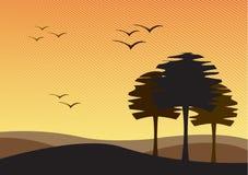 Onvruchtbaar landschap vector illustratie
