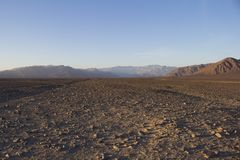 Onvruchtbaar Vuilgebied in Peru stock afbeelding