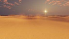 Onvruchtbaar woestijnland bij zonsondergang vector illustratie
