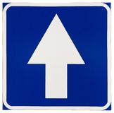 Onwards Traffic Sign Stock Images