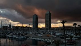 Onweer in Barcelona Stock Fotografie