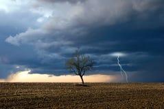 Onweer bij de horizon Royalty-vrije Stock Afbeeldingen