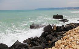Onweer bij de kust Stock Fotografie