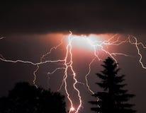 Onweer bij nacht Royalty-vrije Stock Foto